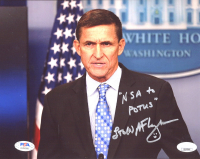 "Michael T. Flynn Signed 8x10 Photo Inscribed ""LTG(R)"" & ""NSA To POTUS"" (JSA COA & PSA Hologram) at PristineAuction.com"