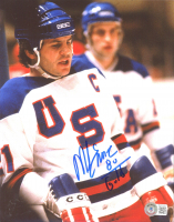 "Mike Eruzione Signed Team USA 8x10 Photo Inscribed ""80 Gold"" (Beckett COA) at PristineAuction.com"