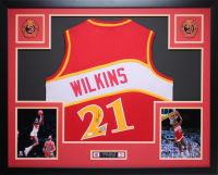 Dominique Wilkins Signed 35x43 Custom Framed Jersey Display (JSA COA, AAA COA, & GTSM Hologram) at PristineAuction.com
