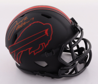 Josh Allen Signed Bills Eclipse Alternate Speed Mini Helmet (Beckett COA) at PristineAuction.com