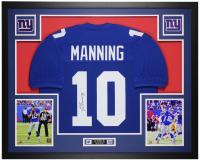 Eli Manning Signed 35x43 Custom Framed Jersey Display (JSA COA) at PristineAuction.com