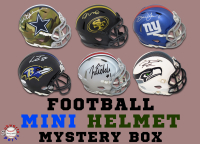 Schwartz Sports Football Mini Helmet Signed Mystery Box - Series 31 (Limited to 150) at PristineAuction.com