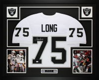 Howie Long Signed 35x43 Custom Framed Jersey Display (JSA COA) at PristineAuction.com