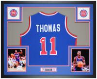 Isiah Thomas Signed 35x43 Custom Framed Jersey Display (JSA COA) at PristineAuction.com