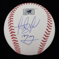 Fernando Tatis Jr. & Manny Machado Signed Padres Logo OML Baseball (Beckett COA) at PristineAuction.com