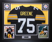 "Joe Greene Signed 35x43 Custom Framed Jersey Display Inscribed ""HOF 87"" (Beckett COA) at PristineAuction.com"