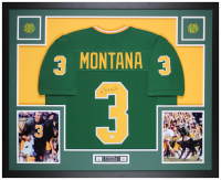 Joe Montana Signed 35x43 Custom Framed Jersey Display (Beckett COA) at PristineAuction.com
