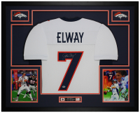 John Elway Signed 35x43 Custom Framed Jersey Display (Beckett COA) at PristineAuction.com