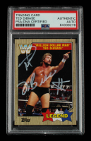 """Ted DiBiase Signed 2017 Topps Heritage WWE #85 """"Million Dollar Man"""" L (PSA Encapsulated) at PristineAuction.com"""