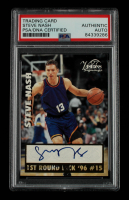 Steve Nash Signed 1997 Visions Signings Gold #10 (PSA Encapsulated) at PristineAuction.com