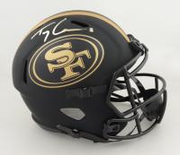 Trey Lance Signed 49ers Full-Size Eclipse Alternate Speed Helmet (Beckett Hologram) at PristineAuction.com