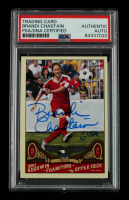 """Brandi Chastain Signed 2006 Topps Allen and Ginter #304 Inscribed """"USA"""" (PSA Encapsulated) at PristineAuction.com"""