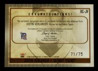 Justin Verlander 2005 Flair Dynasty Cornerstones Signatures #JV2 71 / 75 at PristineAuction.com