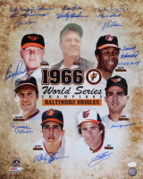 1966 Orioles 16x20 Photo Signed by (14) with Brooks Robinson, Frank Robinson, Jim Palmer, Luis Aparicio, Eddie Fisher (Schulte Sports Hologram) at PristineAuction.com
