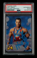 """Kurt Angle Signed 2001 Fleer WWF The Ultimate Diva Collection #64 RP Inscribed """"HOF 17"""" (PSA Encapsulated) at PristineAuction.com"""