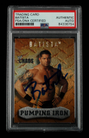 Dave Bautista Signed 2004 Fleer WWE Chaos #89 (PSA Encapsulated) at PristineAuction.com