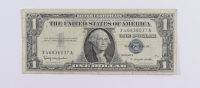 1957B $1 One Dollar U.S. National Currency Blue Seal Bank Note at PristineAuction.com