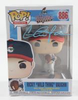 "Charlie Sheen Signed ""Major League"" #886 Ricky ""Wild Thing"" Vaughn Funko Pop! Vinyl Figure (Schwartz COA) (See Description) at PristineAuction.com"