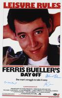 "Matthew Broderick, Mia Sara & Alan Ruck Cast-Signed ""Ferris Bueller's Day Off"" 11x17 Movie Poster Photo (Schwartz COA) at PristineAuction.com"
