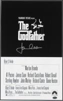 """James Caan Signed """"The Godfather"""" 11x17 Movie Poster (Schwartz COA) at PristineAuction.com"""