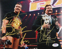 Ted DiBiase & Ted DiBiase Jr. Signed WWE 8x10 Photo (PSA Hologram) at PristineAuction.com