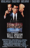"""Charlie Sheen Signed """"Wall Street"""" 11x17 Photo (Schwartz COA) at PristineAuction.com"""