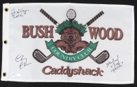 """Chevy Chase, Cindy Morgan & Michael O'Keefe Signed 12x20 Caddyshack Gopher Logo Bushwood Flag Inscribed """"Lacey"""" & """"Noonan"""" (Schwartz COA & Chase Hologram) at PristineAuction.com"""