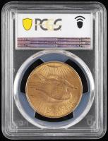 1908 $20 Twenty-Dollar Saint-Gaudens Double Eagle Gold Coin (No Motto) (PCGS MS64+) at PristineAuction.com