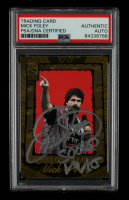 Mick Foley Signed 2002 Fleer WWF All Access #98 RR With Inscripition (PSA Encapsulated) at PristineAuction.com
