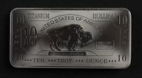 10 Troy Ounce .999 Fine Titanium Oversized Buffalo Bullion Bar at PristineAuction.com