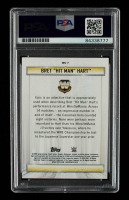 """Bret """"Hitman"""" Hart Signed 2020 Topps WWE Road to WrestleMania Winningest Superstars in WrestleMania History #WS7 (PSA Encapsulated) at PristineAuction.com"""