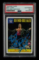 """Bret """"Hitman"""" Hart Signed 2016 Topps Heritage WWE Record Breakers #30 (PSA Encapsulated) at PristineAuction.com"""