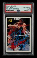 "Bret ""Hitman"" Hart Signed 1990 Classic WWF #123 (PSA Encapsulated) at PristineAuction.com"