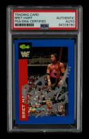 "Bret ""Hitman"" Hart Signed 1991 Classic WWF Superstars #105 (PSA Encapsulated) at PristineAuction.com"