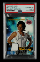 """Molly Holly Signed 2002 Fleer WWE Absolute Divas Wardrobe Closet #NNO Top Inscribed """"8/2/03"""" (PSA Encapsulated) at PristineAuction.com"""