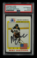 Mike Eruzione Signed 1983 Topps History's Greatest Olympians #36 (PSA Encapsulated) at PristineAuction.com