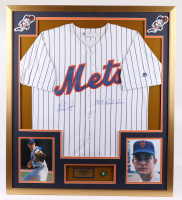 """Nolan Ryan Signed Mets 32x36 Custom Framed Jersey Display Inscribed """"1968 Rookie Season with 1999 Hall of Fame Induction Pin (PSA COA) at PristineAuction.com"""