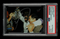 Mick Foley Signed 2000 Comic Images WWF No Mercy #75 Vince McMahon / Mankind (PSA Encapsulated) at PristineAuction.com