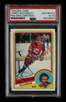 Lanny McDonald Signed 1984-85 Topps #26 (PSA Encapsulated) at PristineAuction.com