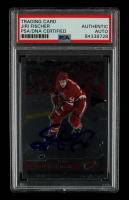 Jiri Fischer Signed 1999-00 Topps Chrome #296 (PSA Encapsulated) at PristineAuction.com