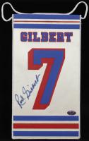 Rod Gilbert SIgned Rangers Mini Flag (Schulte Hologram) at PristineAuction.com