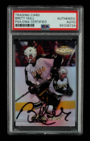 Brett Hull Signed 1998-99 Topps Gold Label Class 1 #92 (PSA Encapsulated) at PristineAuction.com