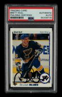 Brett Hull Signed 1990-91 Upper Deck #154 (PSA Encapsulated) at PristineAuction.com