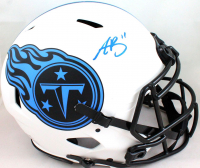 A. J. Brown Signed Titans Full-Size Authentic On-Field Lunar Eclipse Alternate Speed Helmet (Beckett Hologram) at PristineAuction.com