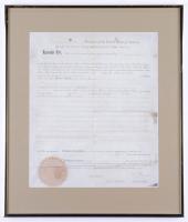 Thomas Jefferson & James Madison Signed Custom Framed Original 1794 Land Grant (JSA ALOA) at PristineAuction.com