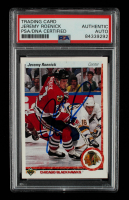 Jeremy Roenick Signed 1990-91 Upper Deck #63 RC (PSA Encapsulated) at PristineAuction.com