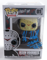 "Kane Hodder Signed ""Friday The 13th"" #1 Jason Voorhees Funko Pop! Vinyl Figure Inscribed ""Jason 7,8,9,X"" (JSA COA) at PristineAuction.com"