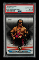 """Bret """"Hitman"""" Hart Signed 2019 Topps WWE RAW Legends of RAW #LR2 (PSA Encapsulated) at PristineAuction.com"""