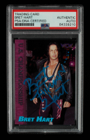 """Bret """"Hitman"""" Hart Signed 1998 Topps WCW/nWo #70 CH (PSA Encapsulated) at PristineAuction.com"""