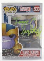 "Isaac C. Singleton Jr. Signed ""Marvel"" #533 Thanos (Holiday) Funko Pop! Bobble-Head Vinyl Figure (Beckett COA at PristineAuction.com"